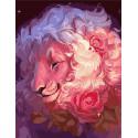Улыбка льва Раскраска картина по номерам на холсте GX39024
