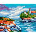 Маяк Раскраска картина по номерам на холсте GX39013