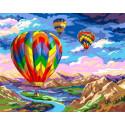 Полет на шарах Раскраска картина по номерам на холсте GX39006