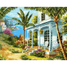 Дом на море Раскраска картина по номерам на холсте GX38999