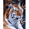 Задумчивый тигр Раскраска картина по номерам на холсте GX38918