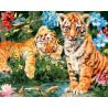 Сон тигренка Раскраска картина по номерам на холсте