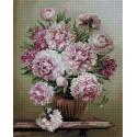 Букет на мраморном столике Алмазная мозаика вышивка на подрамнике APK59016
