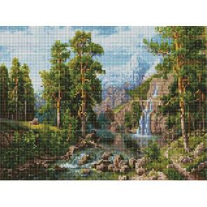 Пейзаж с водопадом Алмазная мозаика вышивка на подрамнике ACPK59026