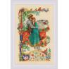 Пример оформления в рамку Баллада о любви Набор для вышивания Риолис 1924