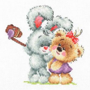 Мишкино селфи Набор для вышивания Многоцветница МКН 39-14