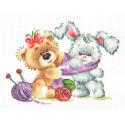 Тепло друзей Набор для вышивания Многоцветница МКН 41-14