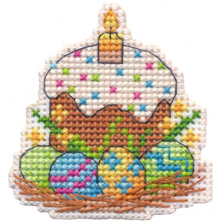 Пасха. Магнит Набор для вышивания на магнитной основе Овен 1382