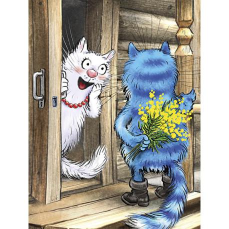 Цветы 8 марта Раскраска картина по номерам на холсте ME1128