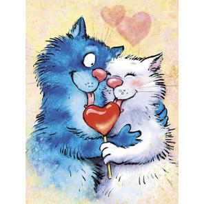 Влюбленные Раскраска картина по номерам на холсте ME1130