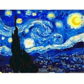 Звездная ночь, Ван Гог Алмазная вышивка (мозаика) на подрамнике Color Kit