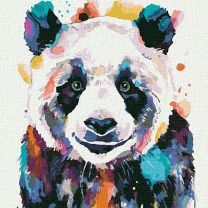 Большая панда Раскраска картина по номерам на холсте