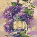 Сиреневое настроение Раскраска картина по номерам на холсте