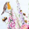 Пример вышитой работы Звонкие малиновки Набор для вышивания Чудесная игла 130-032