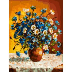 Луговые цветы Раскраска картина по номерам на холсте Белоснежка 385-AS