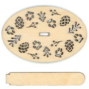 Колобок Деревянная подставка для вышивки на пластиковой канве РА-026