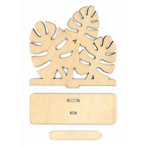 Листва Деревянная подставка для вышивки на пластиковой канве РА-028