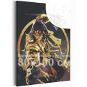 Воин дракона 80х100 см Раскраска картина по номерам с металлической краской AAAA-RS112-80x100
