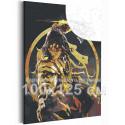 Воин дракона 100х125 см Раскраска картина по номерам с металлической краской AAAA-RS112-100x125