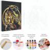 Воин дракона Раскраска картина по номерам с металлической краской AAAA-RS112
