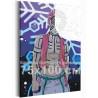 Аказа. Аниме Демоны 75х100 см Раскраска картина по номерам на холсте с неоновыми красками AAAA-ANI026-75x100