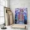 Пример в интерьере Аказа. Аниме Демоны 75х100 см Раскраска картина по номерам на холсте с неоновыми красками AAAA-ANI026-75x100