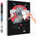 Иноске Хашибира. Аниме Истребители демонов Раскраска картина по номерам на холсте с неоновыми красками AAAA-ANI023