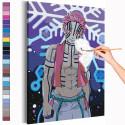 Аказа. Аниме Демоны Раскраска картина по номерам на холсте с неоновыми красками AAAA-ANI026