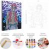 Пример в интерьере Аказа. Аниме Демоны Раскраска картина по номерам на холсте с неоновыми красками AAAA-ANI026