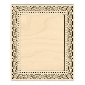 Круги малая Рамка ажурная деревянная для вышивки ОР-128