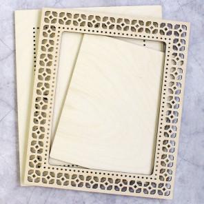 Узор 2 средняя Рамка ажурная деревянная для вышивки ОР-132