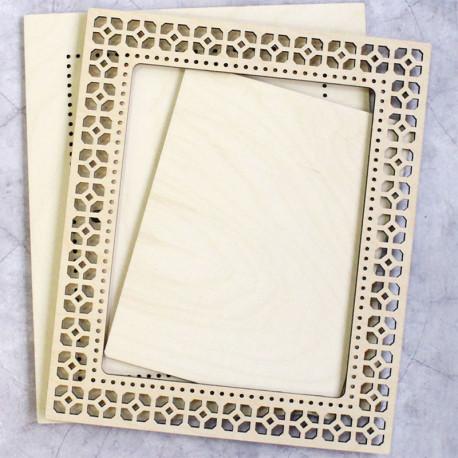 Узор 2 большая Рамка ажурная деревянная для вышивки ОР-133