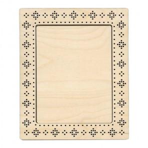Узор крестиком малая Рамка деревянная для вышивки ОР-136