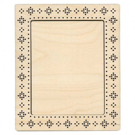 Узор крестиком средняя Рамка деревянная для вышивки ОР-137