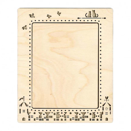 Город малая Рамка деревянная для вышивки ОР-142