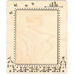 Город большая Рамка деревянная для вышивки ОР-144