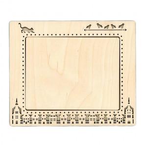 Город 2 малая Рамка деревянная для вышивки ОР-145