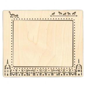 Город 2 средняя Рамка деревянная для вышивки ОР-146