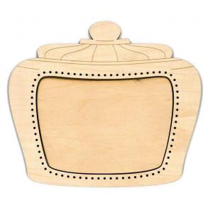 Банка 2 средняя Рамка деревянная для вышивки ОР-149