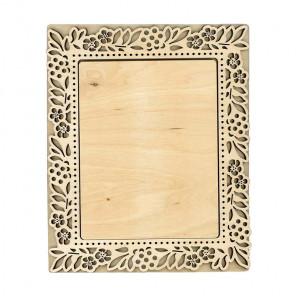 Флора малая Рамка деревянная для вышивки ОР-196