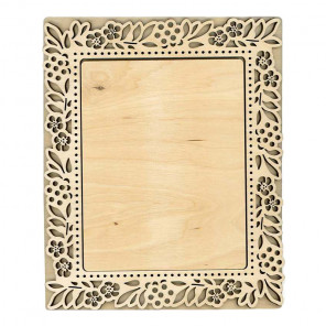 Флора средняя Рамка деревянная для вышивки ОР-197