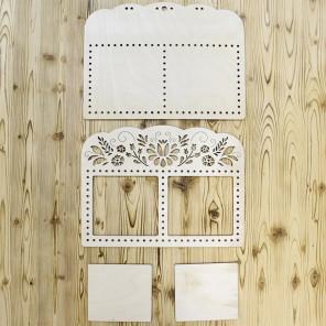Луг Рамка двойная деревянная для вышивки ОР-207