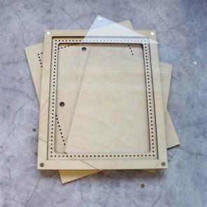 Малая с крышкой Рамка деревянная для вышивки ОР-214