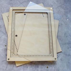 Большая с крышкой Рамка деревянная для вышивки ОР-216