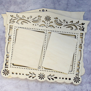 Роспись Рамка двойная деревянная для вышивки ОР-229