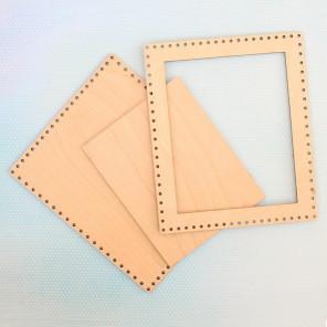 Прямоугольная малая Рамка деревянная для вышивки ОР-010