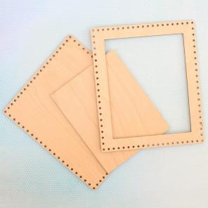Прямоугольная средняя Рамка деревянная для вышивки ОР-011
