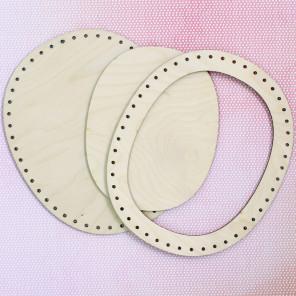 Овальная большая Рамка деревянная для вышивки ОР-015