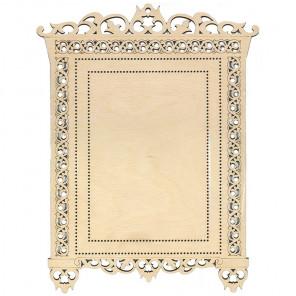№1 Рамка - наличник деревянная для вышивки ОР-023
