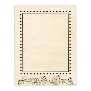 Ежик малая Рамка деревянная для вышивки ОР-095